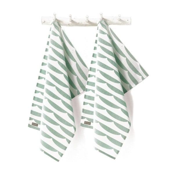 Zestaw 2 ściereczek kuchennych  Storm Pastelgreen