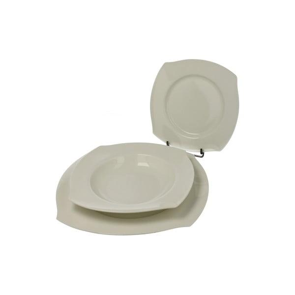 Zestaw talerzy porcelanowych Bianco, 18 szt.