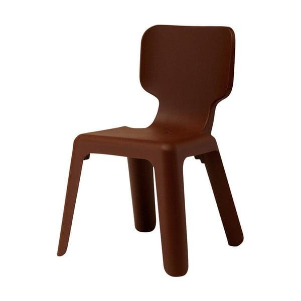 Brązowe krzesło dziecięce Magis Alma