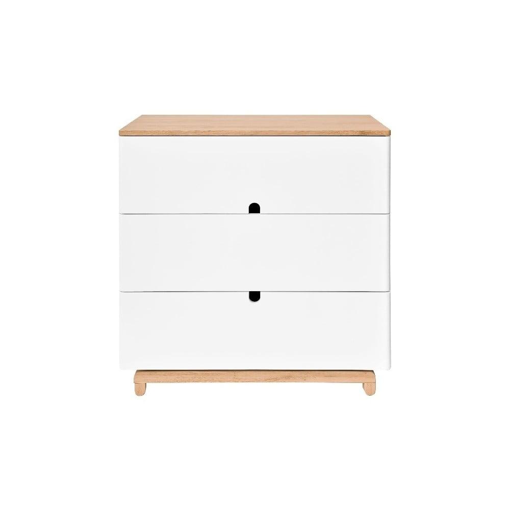 Biała komoda z 3 szufladami BELLAMY Nomi
