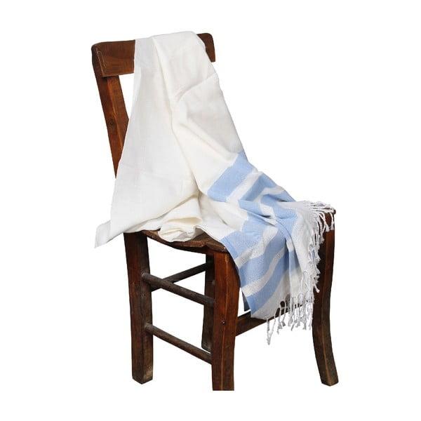 Jasnoniebieski ręcznik hammam Mimoza Light Blue, 90x190cm