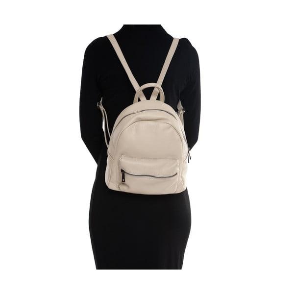Skórzany plecak Mangotti 1166, beżowy