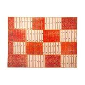 Dywan wełniany Allmode Orange Kilim, 200x140 cm
