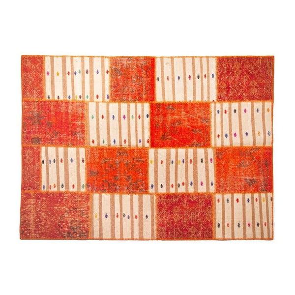 Dywan wełniany Allmode Orange Kilim, 180x120 cm