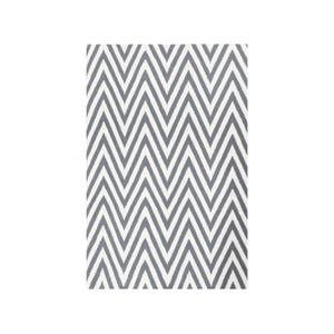 Dywan wełniany Zig Zag Grey, 90x60 cm