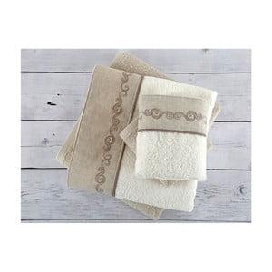 Komplet 4 ręczników z bawełny premium Hera