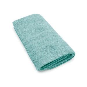 Turkusowy ręcznik Jalouse Maison Serviette Invité Turquoise, 50x100 cm