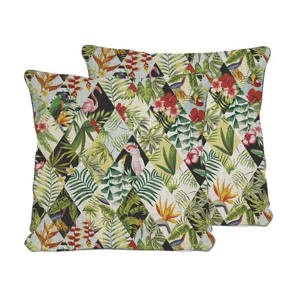 Poduszka Tropical Patchwork, 45x45 cm