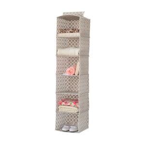 Beżowy tekstylny regał wiszący do szafy Compactor, szerokość 30 cm