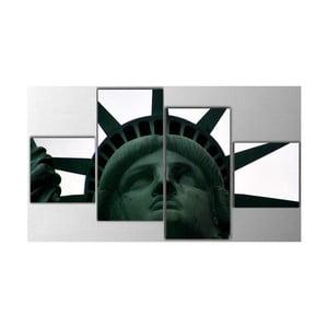 Czteroczęściowy obraz Statue of Liberty, 50x100 cm