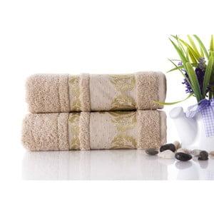 Zestaw 2 ręczników Antik Gold Beige, 50x90 cm