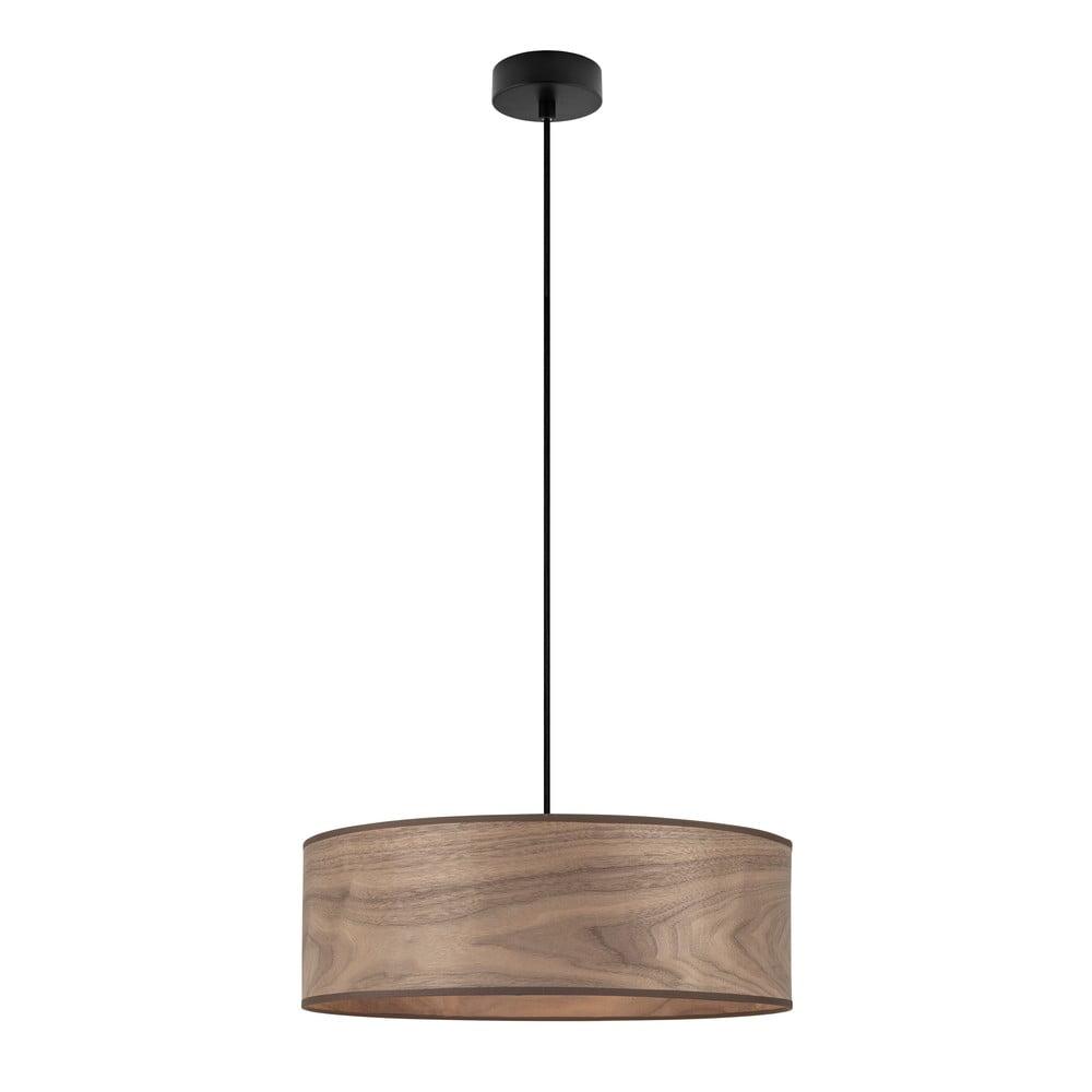 Lampa wisząca z kloszem z drewna orzechowego Sotto Luce TSURI XL