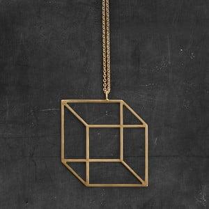 Naszyjnik Cube Gold z kolekcji Geometry