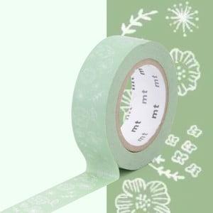 Zielona taśma dekoracyjna washi MT Masking Tape Wild Flower