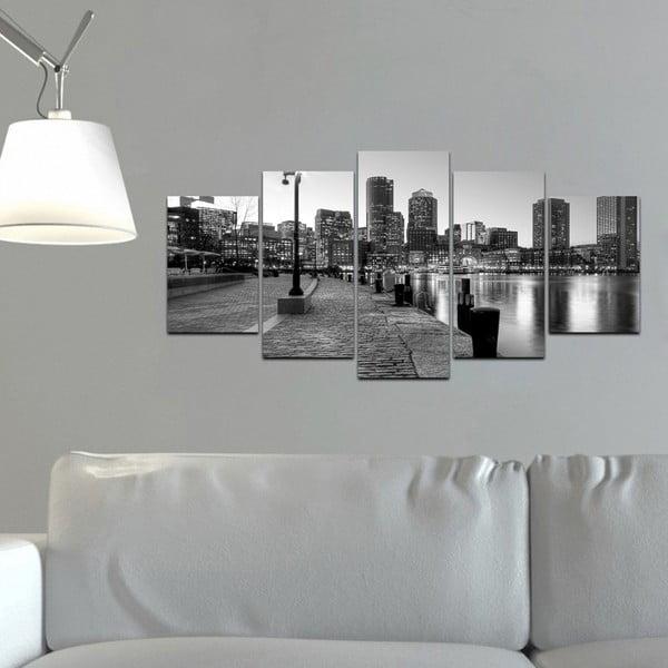 Wieloczęściowy obraz Black&White no. 91, 100x50 cm