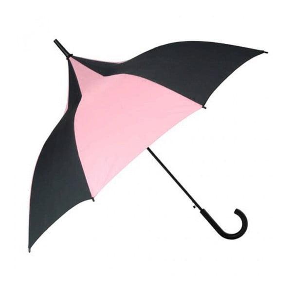 Parasolka Candice, czarna/różowa