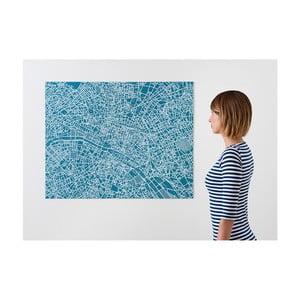 Niebieska mapa ścienna Palomar Pin Paryż