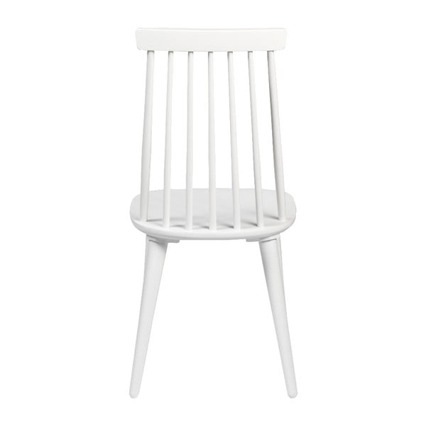 Białe krzesło do jadalni z drewna kauczukowca Rowico Lotta