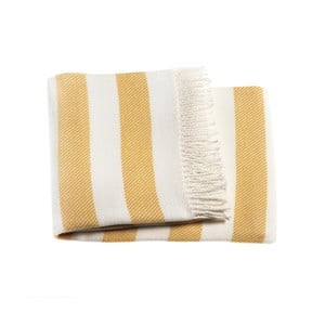 Żółty koc Euromant Candy, 140x180 cm