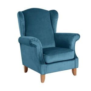 Niebieski fotel Max Winzer Verita Velvet