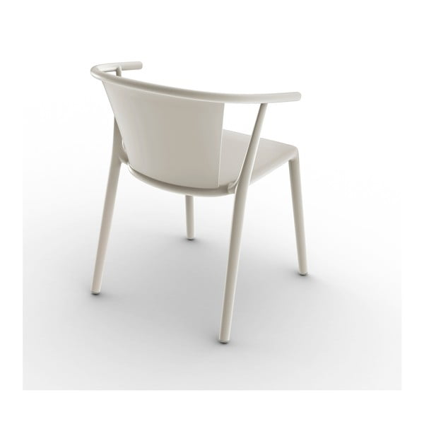 Zestaw 2 kremowych krzeseł ogrodowych Resol steely