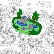 Kolorowanka Creative Gifts Ogród zoologiczny