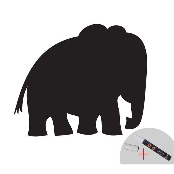 Naklejka ścienna / tablica do pisania Elephant + biały marker
