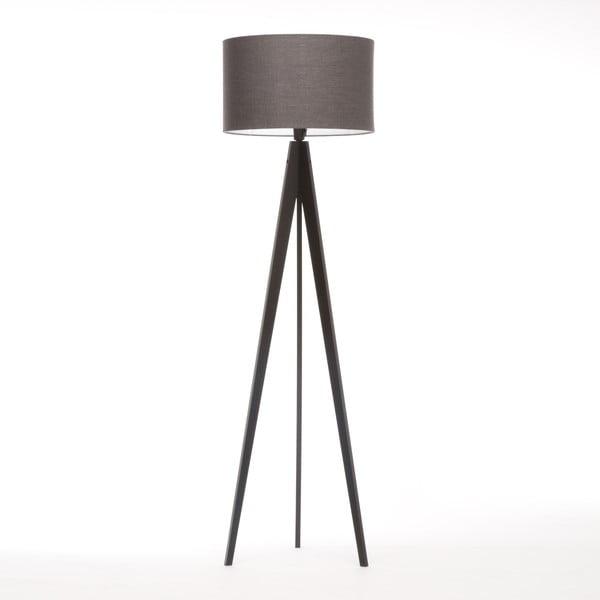 Lampa stojąca Artist Dark Grey Linnen/Black Birch, 125x42 cm