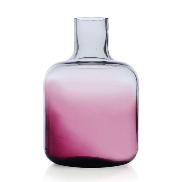 Szklany wazon Islanda Smoke/Violet, 24 cm