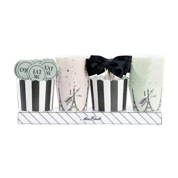 Komplet ozdób i papilotek na muffiny Miss Étoile Paryż