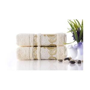 Zestaw 2 ręczników Antik Gold Cream, 50x90 cm