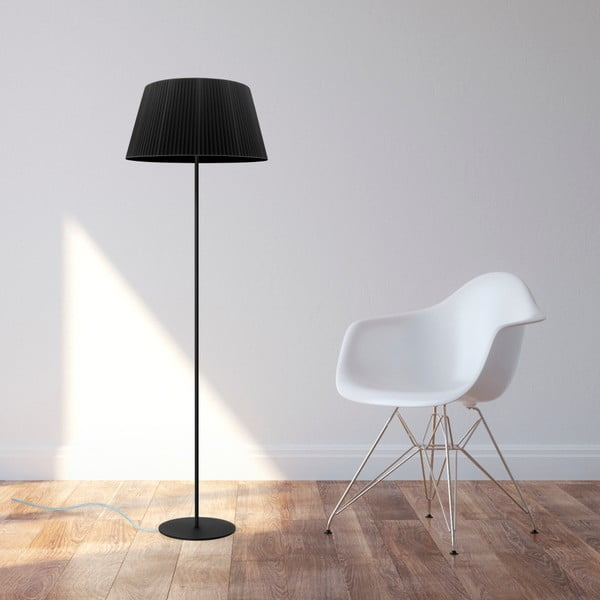 Czarna   lampa stojąca Bulb Attack Dos Plisado