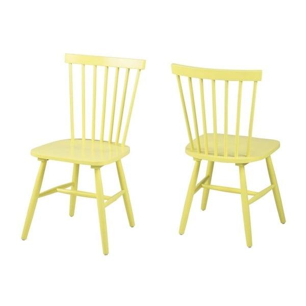 Żółte krzesło Actona Riano