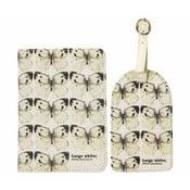 Etui na paszport z etykietą na walizkę Gift Republic Butterflies