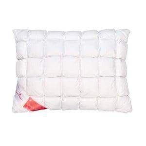 Biała poduszka z gęsim puchem Feeling Honeycomb Green Future, 50x70 cm