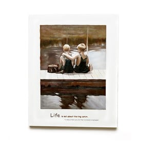 Obraz na drewnie Friendship, 50x63 cm