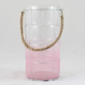 Szklany świecznik Pinky