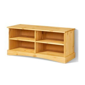 Brązowa szafka pod TV z litego drewna sosnowego Støraa Yvonne