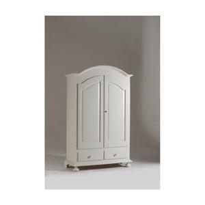 Biała dwudrzwiowa szafa drewniana Castagnetti Top