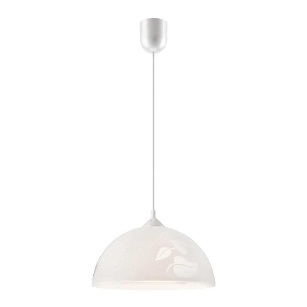Biała lampa wisząca Lamkur Leaf