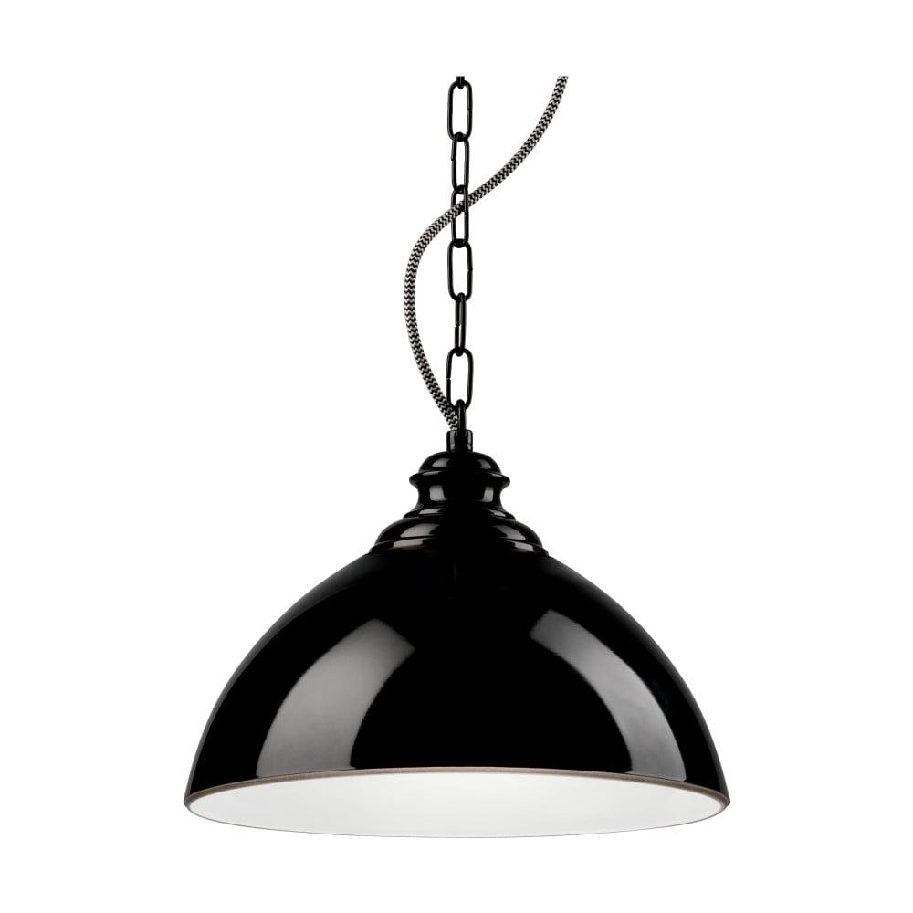 Czarna lampa wisząca Lamkur Rainy