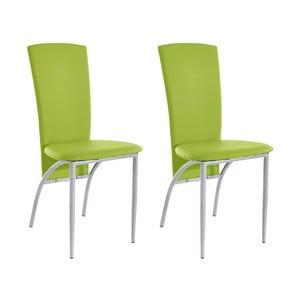 Zestaw 2 zielonych krzeseł Støraa Nevada