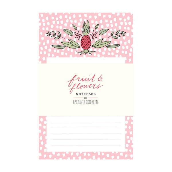 Bloczek Chronicle Books Fruit & Flowers Notepads