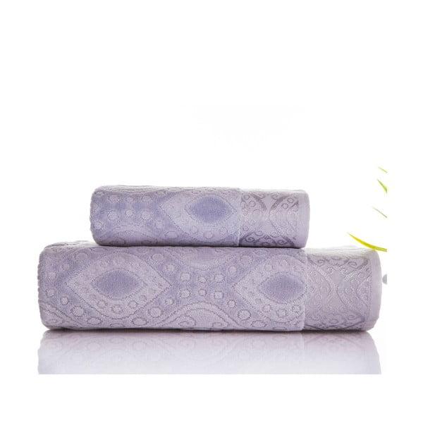 Zestaw 2 ręczników Sal Grey, 50x90 cm a 70x140 cm