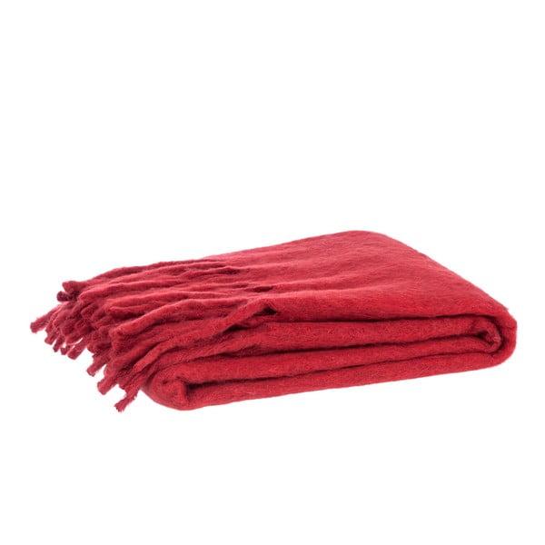 Pled Fringes Red, 125x150 cm