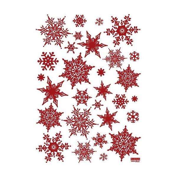 Zestaw 30 naklejek świątecznych Fanastick Christmas Red Flakes