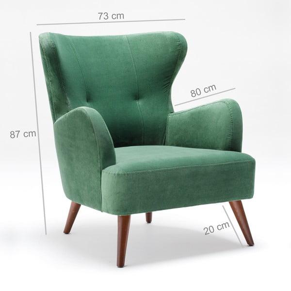 Zielony fotel uszak Balcab Home Jane