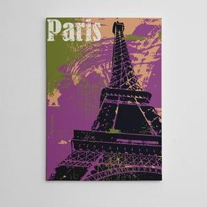 """Obraz na płótnie """"Violet Paris"""", 50x70 cm"""