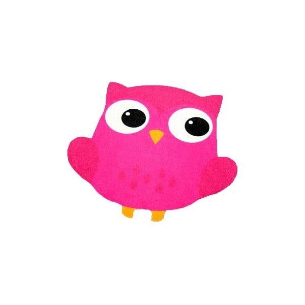Dywan Owls - różowa sowa, 100x100 cm