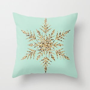 Poszewka na poduszkę Snowflake Blue, 45x45 cm